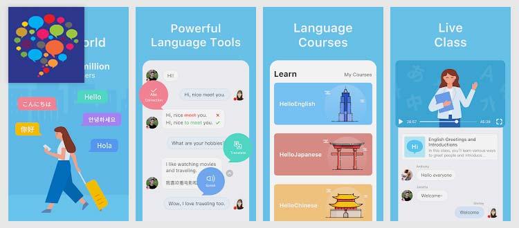 Aplikasi belajar Bahasa Inggris - Hello Talk