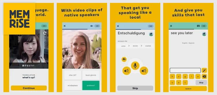 Aplikasi belajar Bahasa Inggris - Learn Languages with Memrise