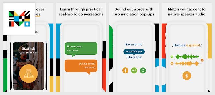 Aplikasi belajar Bahasa Inggris - Mango Languages