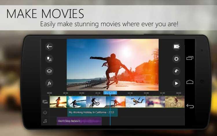 Aplikasi edit video untuk Android - PowerDirector Video Editor