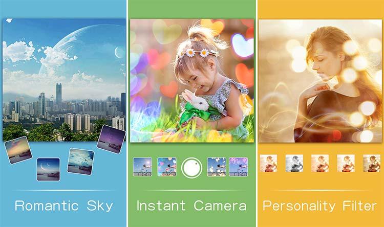 Aplikasi untuk membuat efek bokeh - Insta bokeh: blend camera