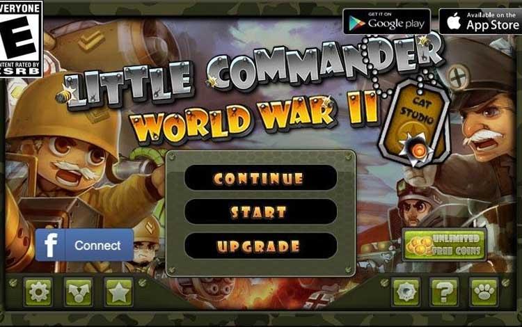 Game Strategi Offline Terbaik 2019 Untuk Android - Little Commander - WWII TD
