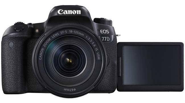 Kamera vlog bagus - Canon EOS 77D