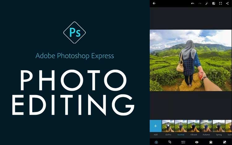Aplikasi edit foto terbaik - Adobe Photoshop Express
