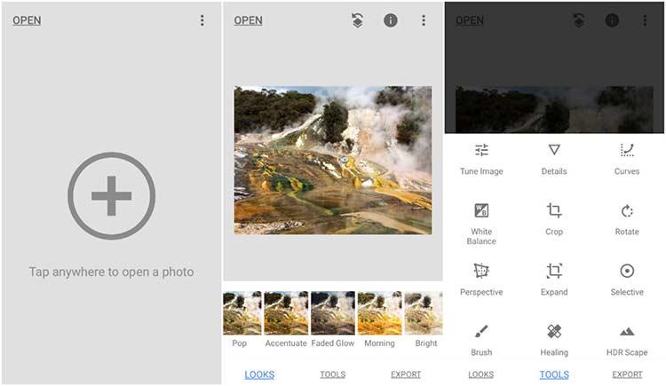 Aplikasi edit foto terbaik - Snapseed