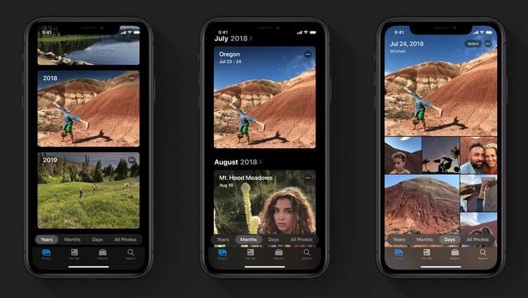 Fitur pengaturan foto pad iOS 13