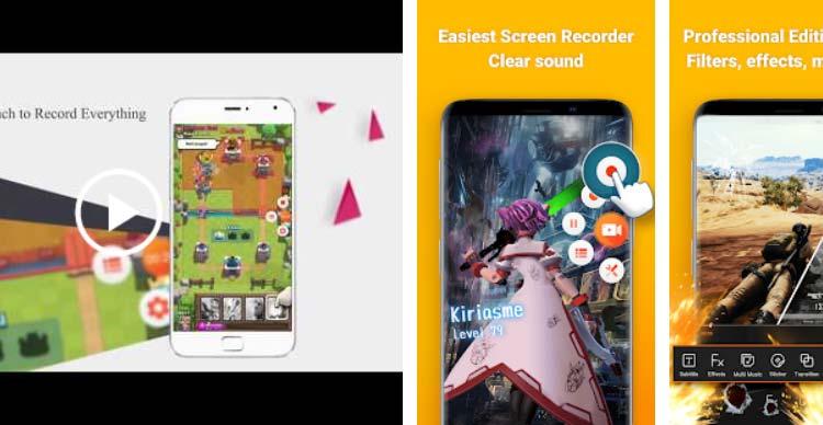 Aplikasi game recorder terbaik 2019 - Screen Recorder V Recorder – Audio, Video Editor