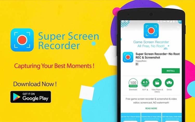 Aplikasi game recorder terbaik 2019 - Super Screen Recorder