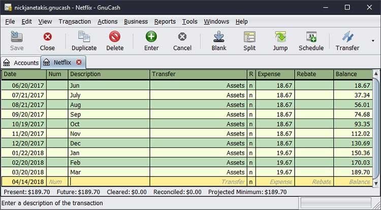 Software akuntansi terbaik - GNUCash