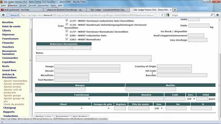Software akuntansi terbaik - SQL Ledger