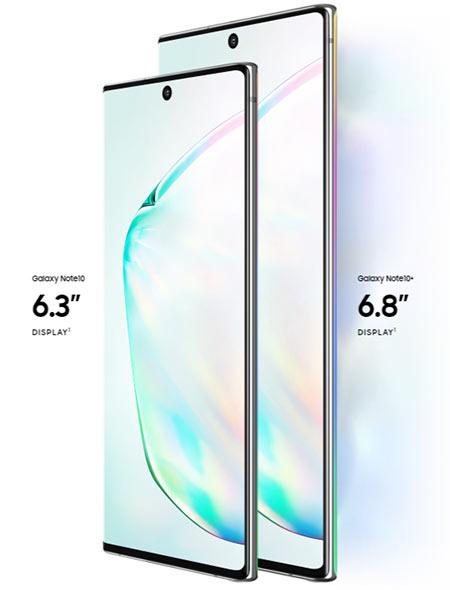 Ukuran Samsung Galaxy Note 10 dan Note 10+