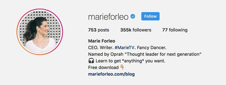 Meningkatkan follower Instagram dengan bio yang menarik