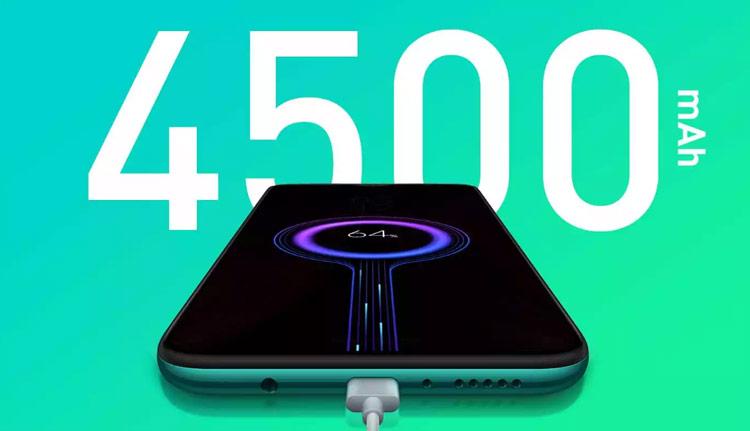 Kapasitas baterai Redmi Note 8 Pro - 4500 mAh dengan fast battery charging 18 W