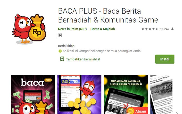 Aplikasi penghasil uang - Baca Plus