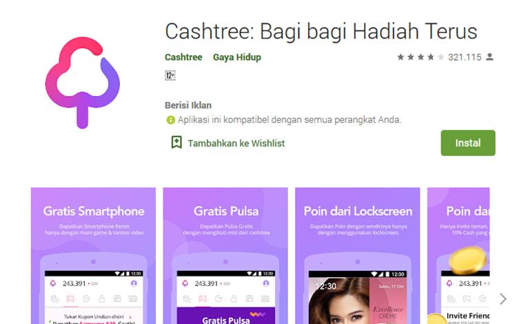 Aplikasi penghasil uang - Cashtree