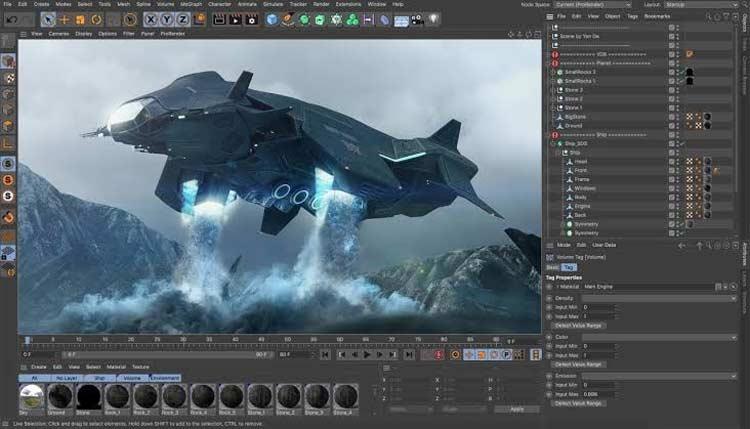 Cinema 4D - Software Animasi 3D Terbaik