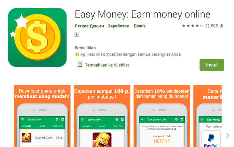 Aplikasi penghasil uang - Easy Money
