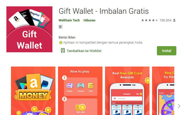 Aplikasi penghasil uang - Gift Wallet