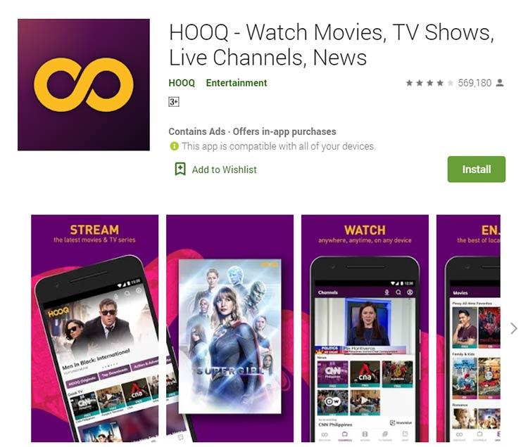 Aplikasi Download Film - HOOQ