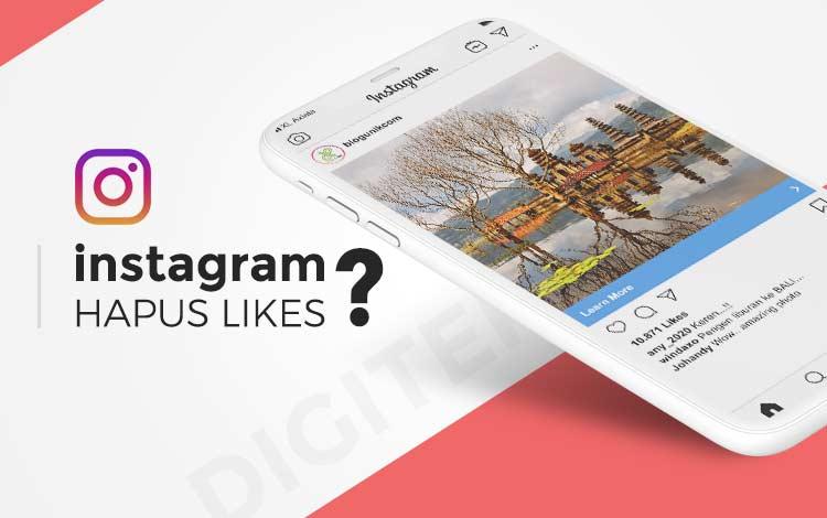 Instagram hapus likes content feed