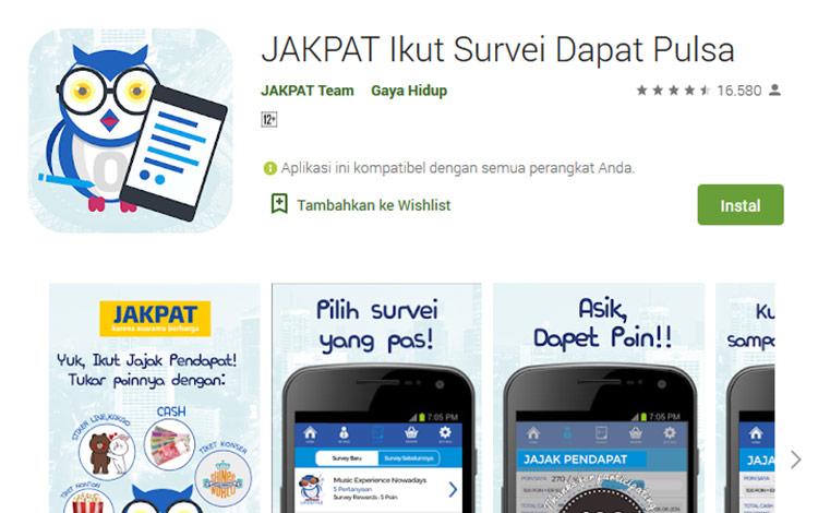 Aplikasi penghasil uang - Jakpat