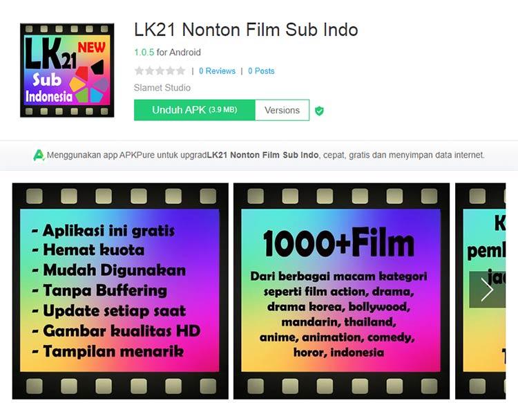 Aplikasi Download Film - LK21 Nonton Film Sub Indo