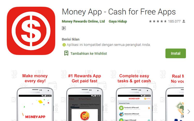 Aplikasi penghasil uang - Money App
