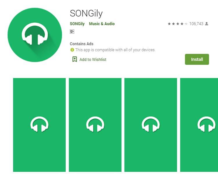 Aplikasi Download Lagu / Musik - SONGily