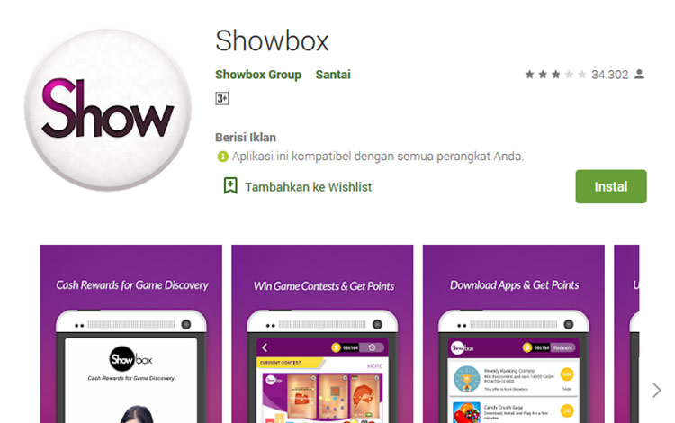 Aplikasi penghasil uang - Showbox