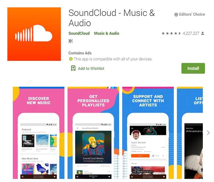 Aplikasi Download Lagu / Musik - SoundCloud