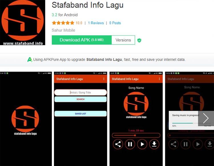 Aplikasi Download Lagu / Musik - Stafaband