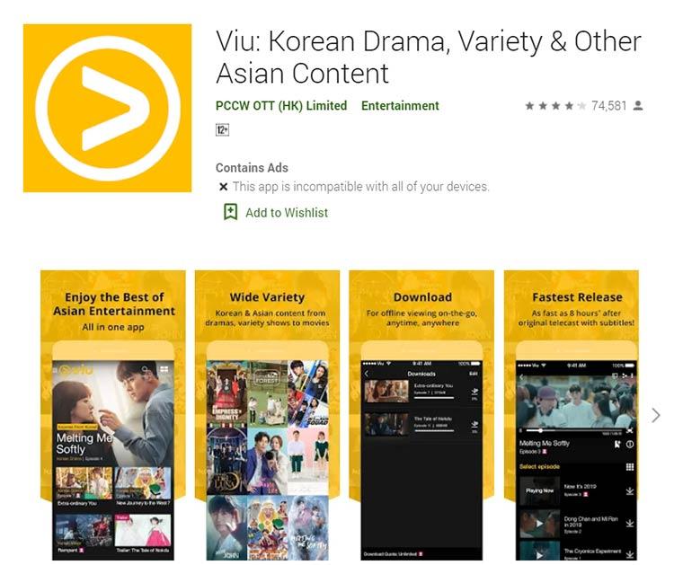 Aplikasi Download Film - Viu