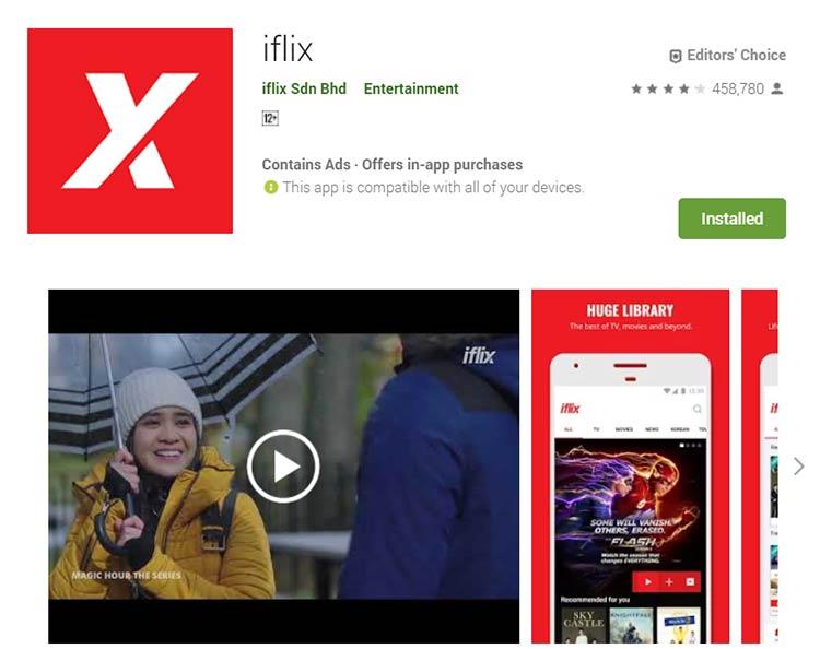 Aplikasi Download Film - iflix