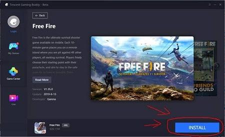 Cara Install FF di PC