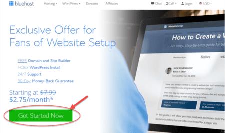 Cara Membuat Blog Sign Up Bluehost