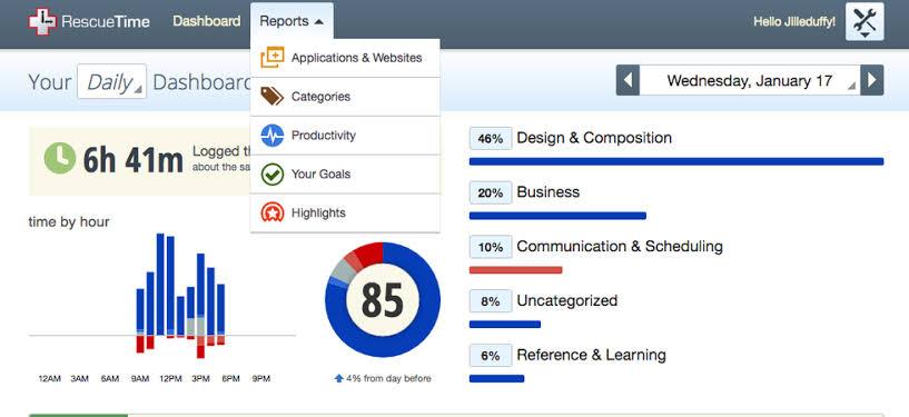 aplikasi bisnis online time management