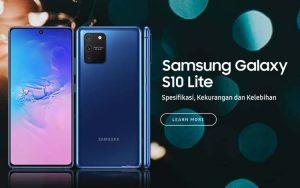Spesifikasi kekurangan dan kelebihan Samsung Galxy S10 Lite
