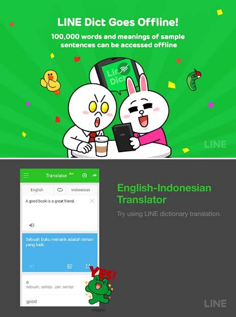 Aplikasi Kamus Bahasa Inggris Terbaik - Line Kamus Inggris