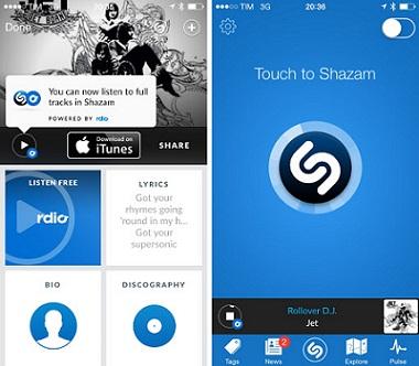 Aplikasi Lirik Android dan iOS Terbaik - Shazam