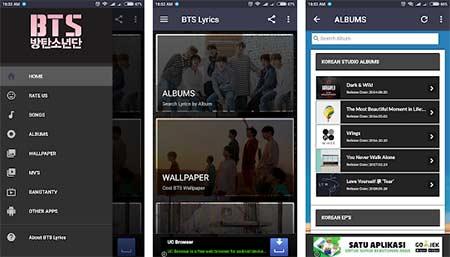 Aplikasi Lirik Lagu Android - BTS Lyrics