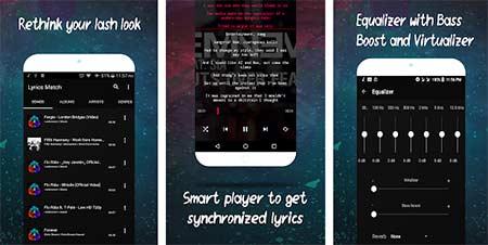 Aplikasi lirik lagu - Lyrics Match