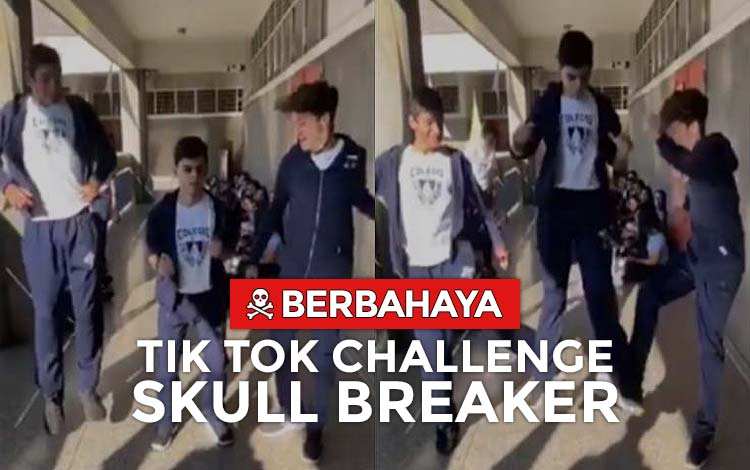 Tik Tok skull breaker challenge berbahaya