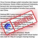 Virus Corona Wuhan Update! Facebook Ucapkan Minta Maaf?