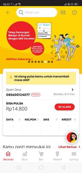 Cara Cek Kouta Indosat Ooredoo Update 2020