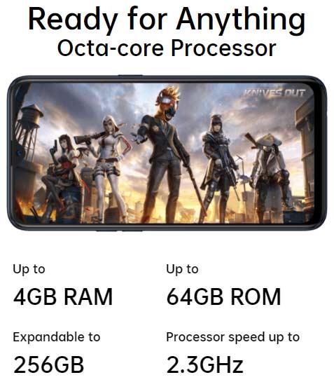 Spesifikasi memory Oppo A12