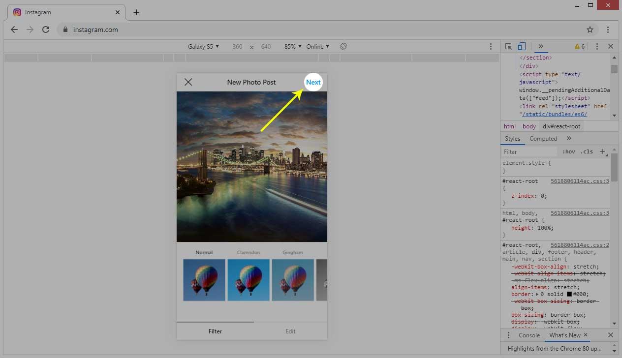 Cara Upload Foto Instagram di PC melalui Google Chrome