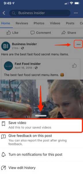 Cara Download Video di FB Terbaru PC dan HP
