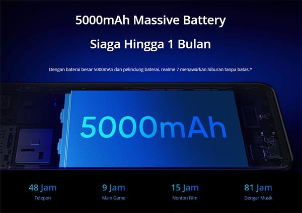 Spesifikasi baterai realme 7