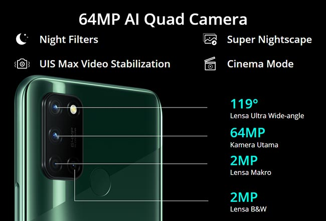 Spesifikasi kamera realme 7i