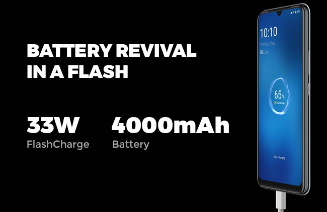 Kapasitas dan fitur baterai vivo V20